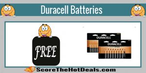 SCORE! Duracell Batteries - F.R.E.E (after rewards)!