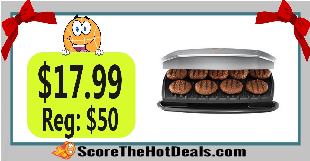 George Foreman 9-Serving Classic Plate Grill & Panini Press
