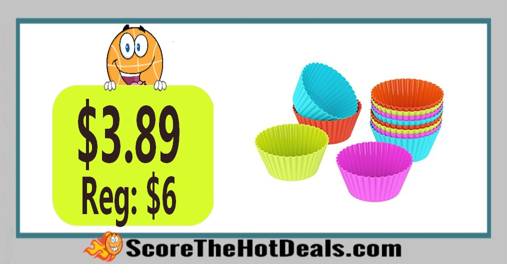 12 Piece Silicone Baking Cupcake Liners
