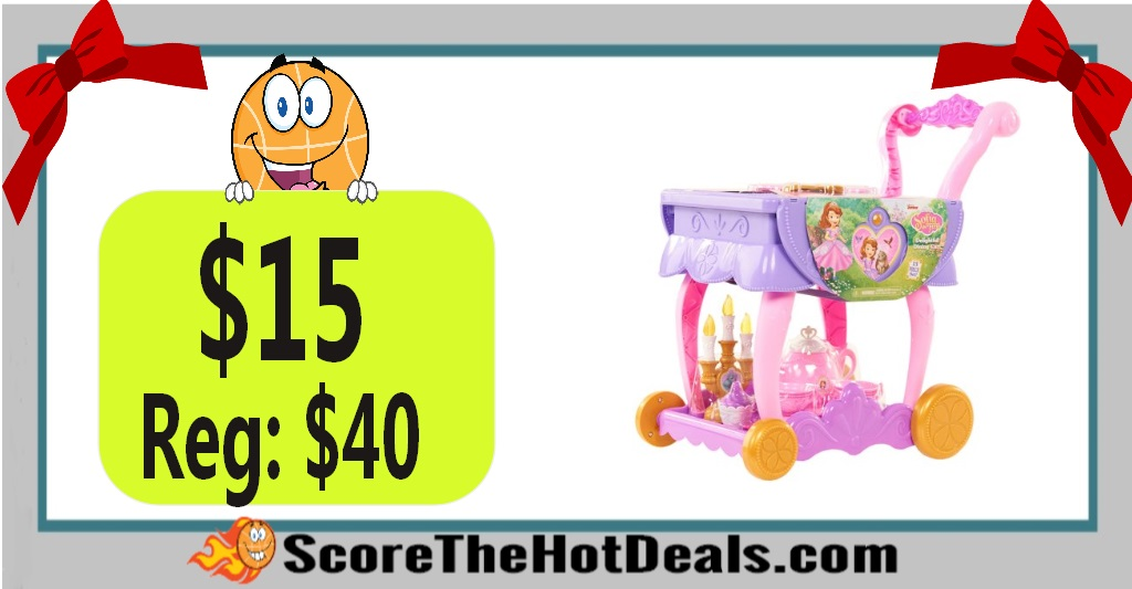 Disney Sofia the First 13-Piece Delightful Dining Cart