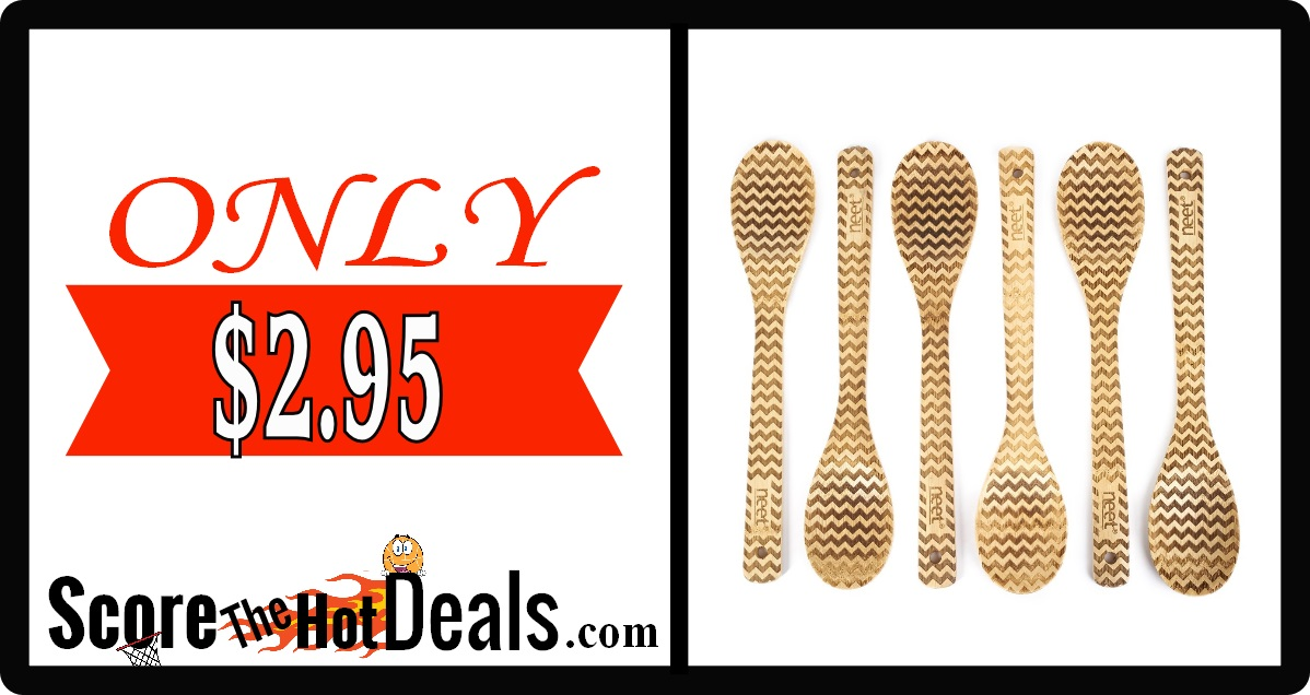 6 Piece Chevron Wooden Spoon Set