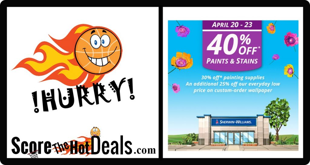 40% Off Paints & Stains