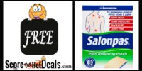 **FREE** 2 Ct. Salonpas Pain Relieving Patches!