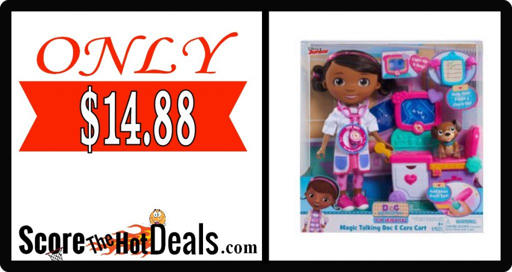 Doc McStuffins Magic Talking Doc & Care Cart