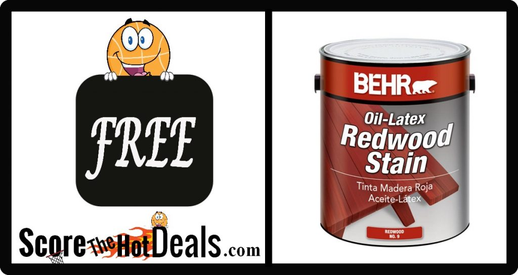 **FREE** Gallons Of Redwoon Stain!