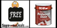 **FREE** Gallons Of Redwood Stain!