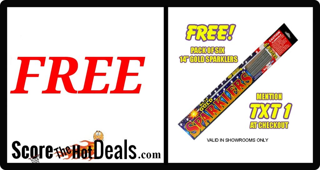 Free gold Sparklers