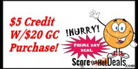 EXPIRED: Get a $5 Account Credit With a $25 Gift Card Purchase!