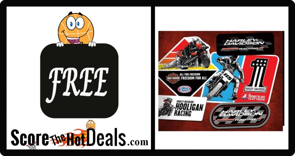 **FREE** Harley-Davidson Racing Sticker Pack!