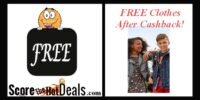 $45 Of Clothing For FREE After Cashback!