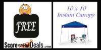 ~FREE~ 10 x 10 Instant Canopy - After Cashback!
