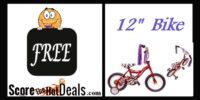 """~FREE~ 12"""" Bike - After Cashback!"""
