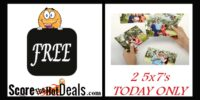 *TODAY ONLY* Score 2 FREE 5x7 Photo Prints!
