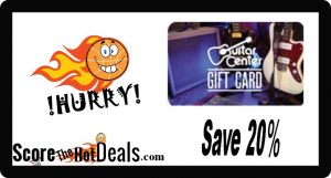 ~HURRY~ Grab a $50 Guitar Center Gift Card For $40!