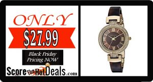 Anne Klein Women's Swarovski Crystal Watch - ONLY $27.99!