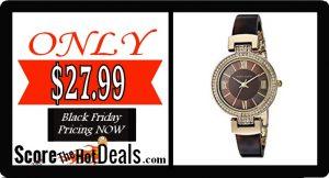 Anne Klein Women's Swarovski Crystal Watch - ONLY $27.99!
