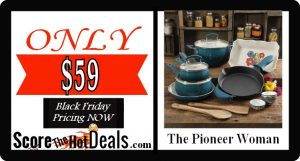 The Pioneer Woman 17 Piece Cookware Set - ONLY $59!