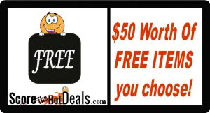 Up To $50 Worth Of FREE Items Of Choice - After Cashback!