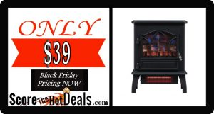 Infrared Quartz Electric Fireplace - ONLY $39!