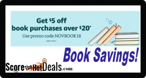 EXPIRED: Save $5 Off A $20 Book Purchase!