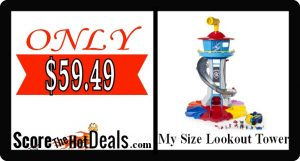 Paw Patrol My Size Lookout Tower - ONLY $59.49!