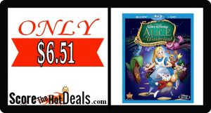 Alice in Wonderland DVD + Blu-Ray - ONLY $6.51!