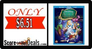 Alice in Wonderland DVD + Blu-Ray - ONLY $6.51!