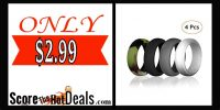 4 Pack Silicone Rings - ONLY $2.99!