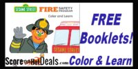 F.R.E.E Sesame Street Color & Learn Fire Safety Booklets!
