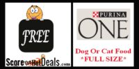 **FREE** Full Size Bag Of Purina One!