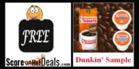 **FREE** Dunkin' Donuts Coffee Samples!