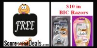 **FREE** BIC Razors - UP TO $10 VALUE (after rebate)!