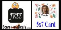 ~RUN~ F.R.E.E Custom 5x7 Folded Photo Card!