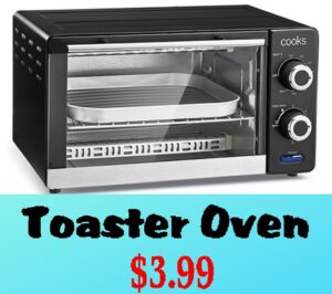 RUN! $3.99 Toaster Oven (after rebate)!