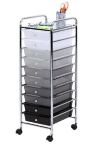 the Rolling Storage Cart with 10 Drawers - ONLY $20.67!