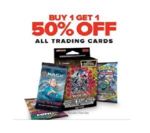 BOGO 50% Off Trading Cards!