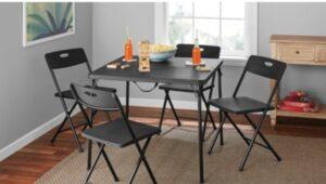 5 Piece Folding Table Set - $49!