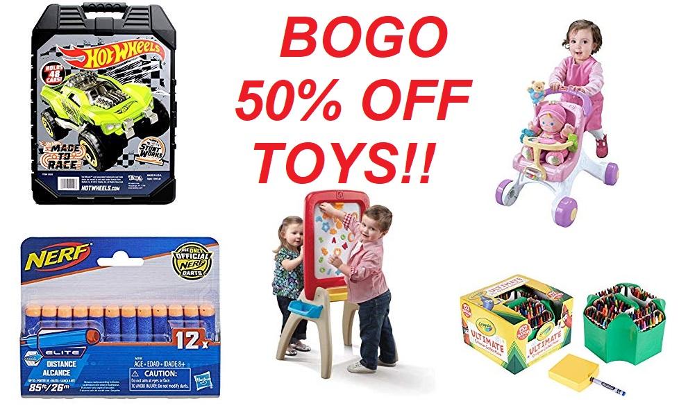 BOGO 50% Off Toys!