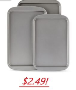 Three Piece Cookie Sheet Set - $2.49 (after rebate)!