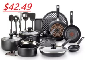 T-Fal 20 Piece Cookware Set - ONLY $42.49 SHIPPED!