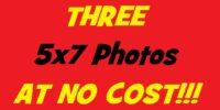 Score 3 5x7 Photo Prints!