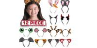 12 Pack Dress Up Headbands - HALF OFF!
