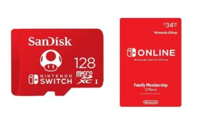 12 Month Nintendo Switch Online Family Membership + SanDisk 128GB Memory Card - 36% Off!