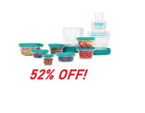 Rubbermaid Press & Lock Easy Food Storage Containers - 52% Off!