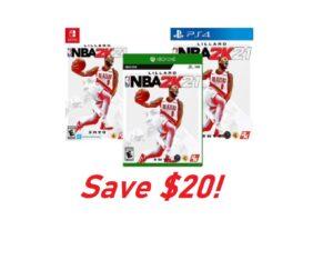 NBA 2K21 - Save $20!