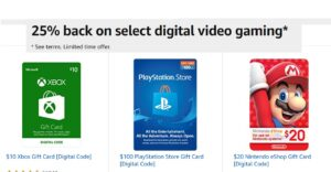 Prime Card Members - Get Back 25% On Select Digital Games & Memberships!