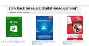 Prime Card Members - Get Back 25% On Select Digital Games & Memberships!