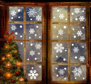 EXPIRED: 190 Snowflake Window Clings Only $4.99!